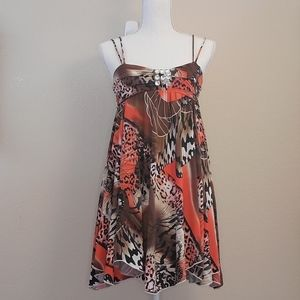 Funkyberry red brown tank dress 10